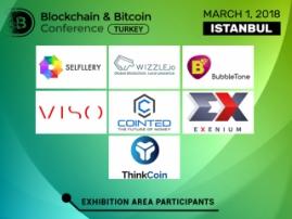 Blockchain & Bitcoin Konferansı Türkiye'nin demonstrasyon alanındaki Blok Zinciri perspektif çözümleri, kripto borsası ve yazılım