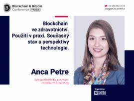 Blockchain ve zdravotnictví: přednáška spoluzakladatelky a provozní ředitelky 23 Consulting Ancy Petre