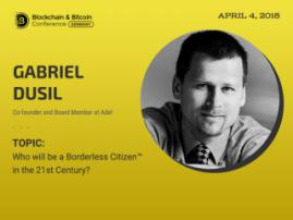 Blockchain will make us borderless citizens? Expert opinion from Gabriel Dusil at Blockchain & Bitcoin Conference Berlin