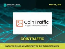 CoinTraffic media agency – Badge Sponsor and participant of the exhibition area of Blockchain & Bitcoin Conference Thailand
