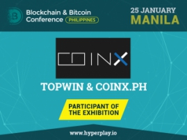 CoinX will become a participant of the exhibition area at Blockchain & Bitcoin Conference Philippines