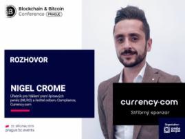 """""""Currency.com radikálně změní investiční kryptoměnový ekosystém"""" – Nigel Crome, MLRO a ředitel odboru compliance Currency.com"""