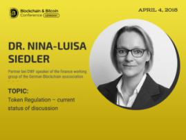 Dr. Nina-Luisa Siedler, partner at DWF, Will Speak at the Blockchain & Bitcoin Conference Germany 2018
