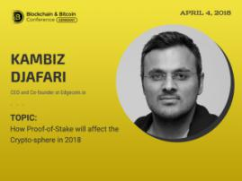Everything about the new Proof-of-Stake algorithm in the presentation of Kambiz Djafari at Blockchain & Bitcoin Conference Berlin