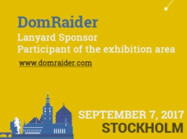 French startup DomRaider is an exhibitor and Lanyard Sponsor of Blockchain & Bitcoin Conference Stockholm