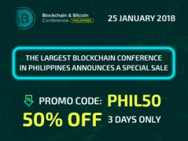Go for it! 50% discount on Blockchain & Bitcoin Conference Philippines