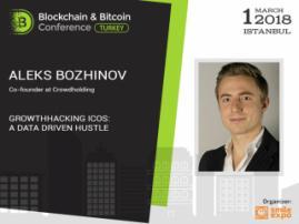 Growthhacking ICOs: A data driven hustle. Presentation by Aleks Bozhinov at Blockchain & Bitcoin Conference Turkey