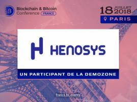 Henosys va participer à la zone d'exposition de Blockchain & Bitcoin Conference France