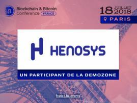 Henosys va participer à la zone d'exposition de Blockchain & Bitcoin Conference France