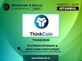 Meet the Platinum Sponsor of Blockchain & Bitcoin Conference Turkey – ThinkCoin