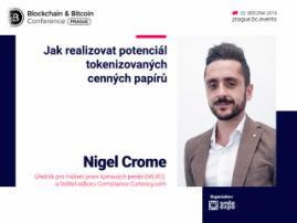 Možnosti využití tokenizovaných cenných papírů: přednáška odborníka na AML Currency.com Nigela Cromea