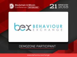 New exhibition area participant at Blockchain & Bitcoin Conference Switzerland: BehaviourExchange, content individualization service