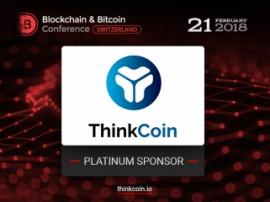 Platinum Sponsor of Blockchain & Bitcoin Conference Switzerland: ThinkCoin