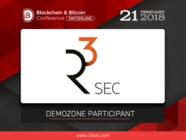 R3Sec, IT security developer, to participate in exhibition area at Blockchain & Bitcoin Conference Switzerland