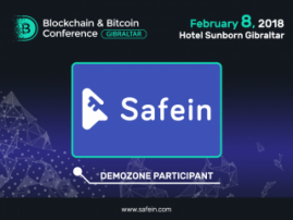 Revolution in payment: Safein will present a digital wallet at Blockchain & Bitcoin Conference Gibraltar