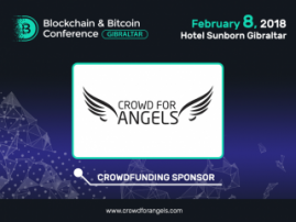 Sponsor of Blockchain & Bitcoin Conference Gibraltar: Crowd for Angels platform