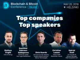 Top experts from the largest global companies at Blockchain & Bitcoin Conference Finland