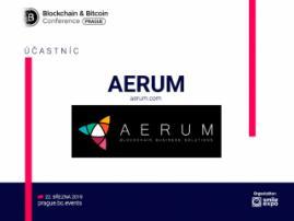 Vývojáři blockchainové platformy AERUM se zúčastní Blockchain & Bitcoin Conference Prague