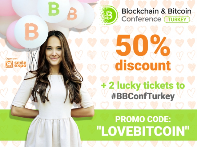 50% off every ticket for Bitcoin admirers