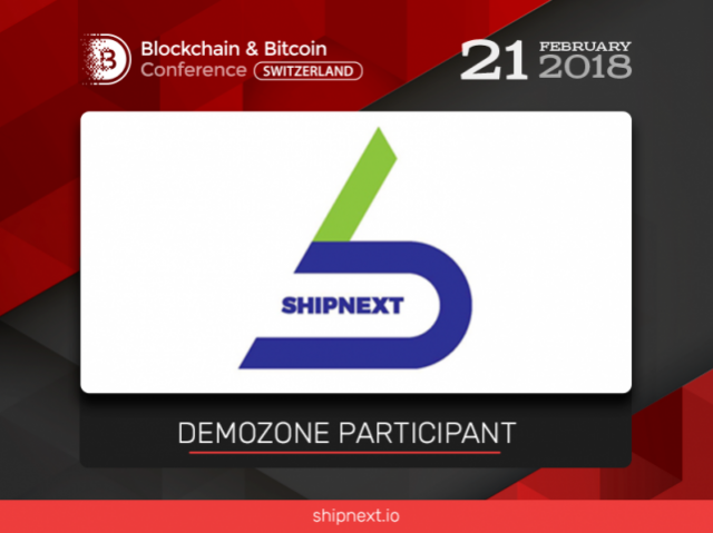 A sea shipping platform ShipNEXT will be a participant at the Blockchain & Bitcoin Conference Switzerland exhibition area