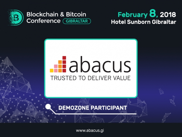 Abacus to present its solutions at Blockchain & Bitcoin Conference Gibraltar