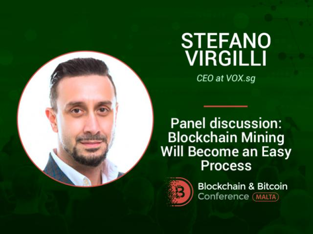 Announcing the moderator of the panel discussion – Stefano Virgilli, CEO at VOX ICO Advisory firm