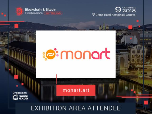 Art Community & Marketplace: MonArt Will Exhibit Its Solutions at Blockchain & Bitcoin Conference Switzerland