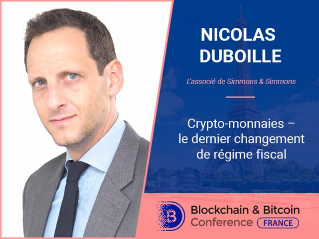 Associé de Simmons & Simmons, Nicolas Duboille, nous livre ses réflexions sur la fiscalité des crypto-monnaies