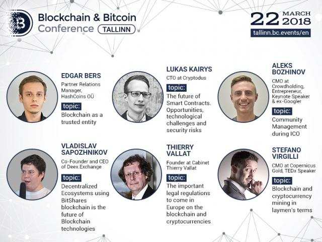 At Blockchain & Bitcoin Conference Tallinn, world-class lawyers, developers and marketers will deliver presentations