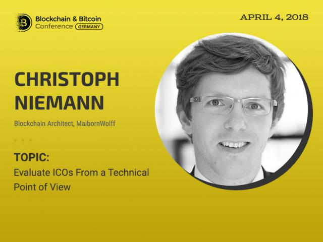 Blockchain Architect at MaibornWolff Will Be a Speaker at Blockchain & Bitcoin Conference Germany