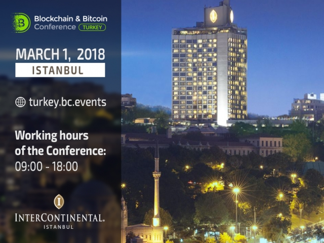 Blockchain & Bitcoin Conference Turkey to be held at luxury hotel – InterContinental Istanbul