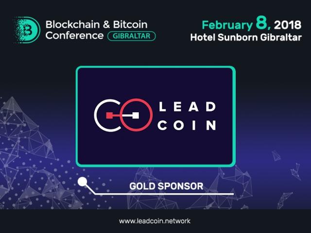 Blockchain platform LeadCoin – Gold Sponsor of Blockchain & Bitcoin Conference Gibraltar