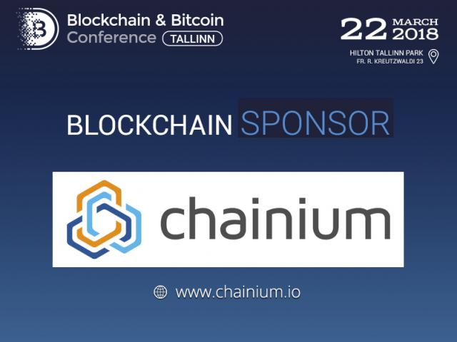 Chainium: Blockchain Sponsor and Exhibition Area Participant of Blockchain & Bitcoin Conference Tallinn