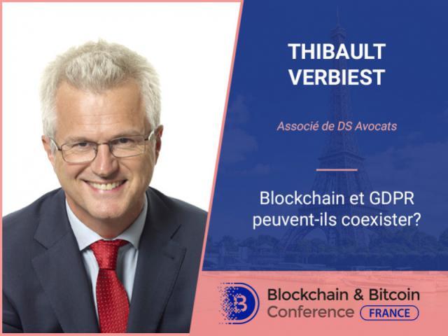 Comment Blockchain et GDPR peuvent-ils coexister? Associé de DS Avocats, Thibault Verbiest, fait le point