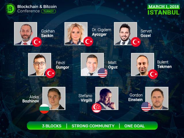 Türk, Bulgar, Singapurlu ve Amerikan kripto para uzmanları ve Blok Zinciri girişimcileri Blockchain & Bitcoin Konferansı Türkiye'ye konuşmacı olarak katılacaktır