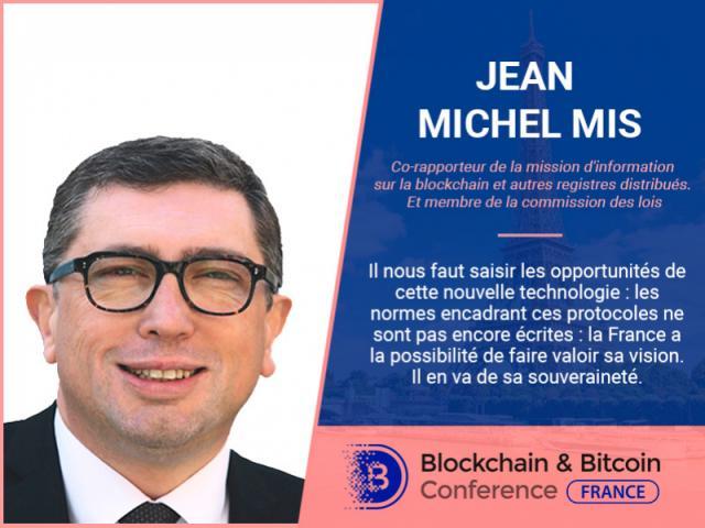 Député français, Jean-Michel Mis, présentera son rapport lors de la Blockchain & Bitcoin Conference France