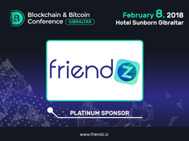 Digital marketing company Friendz: Platinum Sponsor of Blockchain & Bitcoin Conference Gibraltar