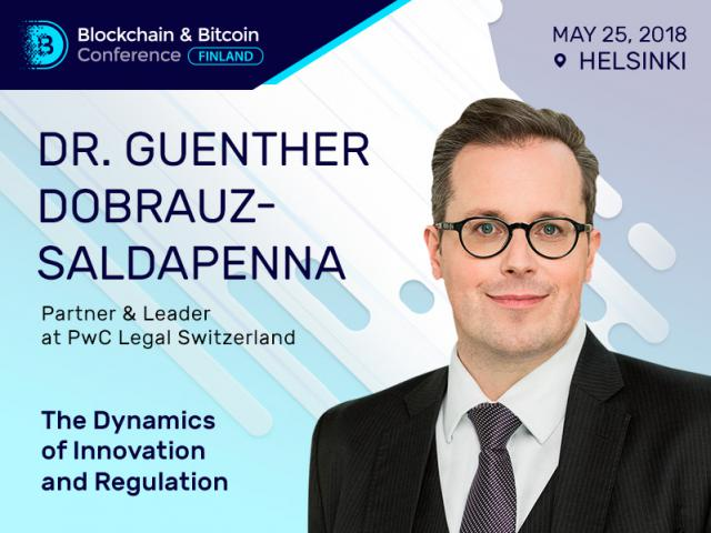 Dr. Guenther Dobrauz-Saldapenna, a leader at PwC Legal Switzerland, Will Talk about Blockchain Innovations and Regulations