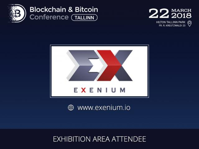 Exenium.io presented in the exhibition area of Blockchain & Bitcoin Conference Tallinn