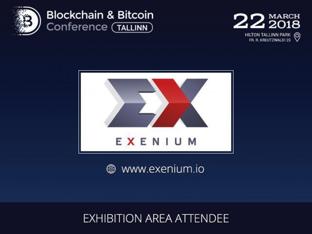 Exenium.io presented in the exhibition area of Blockchain & Bitcoin Conference Tallinn