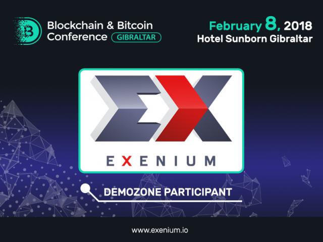 Exenium: Exhibition Area Participant of Blockchain & Bitcoin Conference Gibraltar