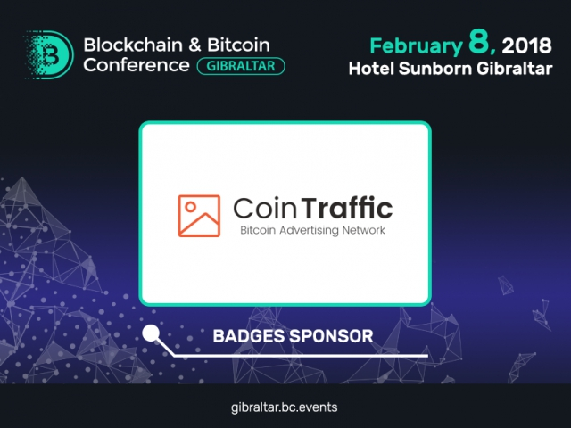 First cryptocurrency ad network – CoinTraffic – to be Sponsor of B&BC Gibraltar