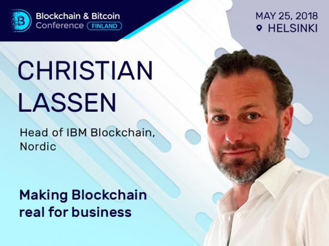 IBM representative Christian Lassen to speak at Blockchain & Bitcoin Conference Finland