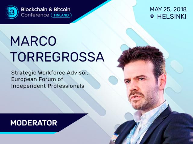 Marco Torregrossa Will Moderate Finnish Blockchain Event