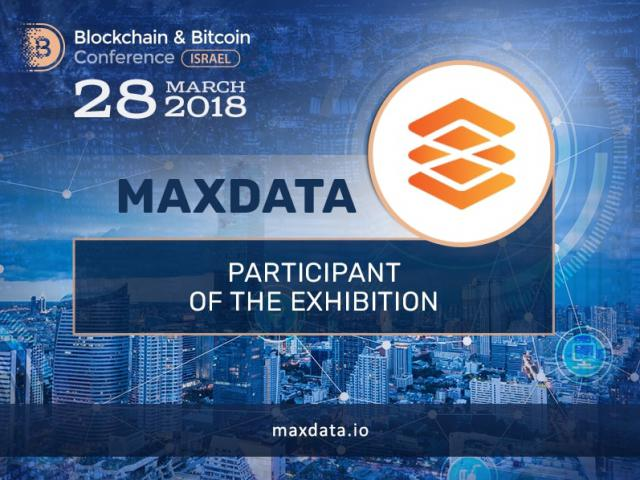 Maxdata is the new participant of the exhibition at Blockchain & Bitcoin Conference Israel