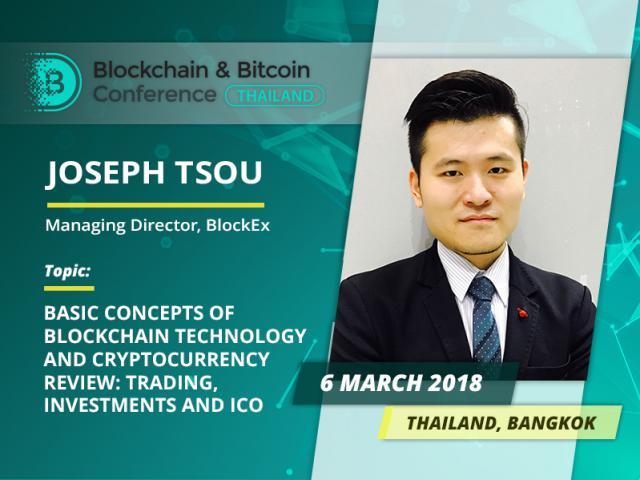 Meet Joseph Tsou: head of BlockEx and ВВС Thailand speaker!