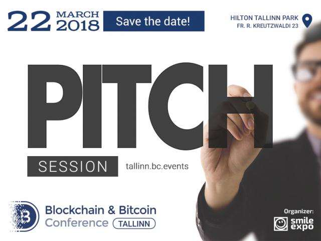 Pitch session at Blockchain & Bitcoin Conference Tallinn – a chance to meet with leaders of the blockchain industry