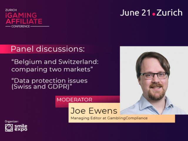 Swiss Independent Regulator Representative Joe Ewens to Become a Panel Discussion Moderator at Zurich iGaming Affiliate Conference