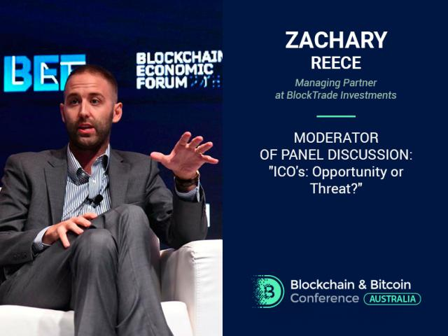 US expert to become a moderator of panel discussion at Blockchain & Bitcoin Conference Australia