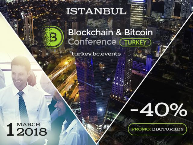 Use promo code and get discount. -40% for early bird ticket at Blockchain & Bitcoin Conference Turkey